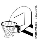 Basketball Backboard Silhouette