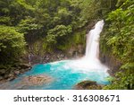 catarata del rio celeste  azul  ... | Shutterstock . vector #316308671