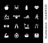 fitness icons. health icon. gym ... | Shutterstock .eps vector #316309235