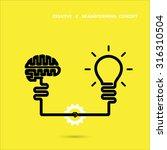 creative brainstorm concept... | Shutterstock .eps vector #316310504