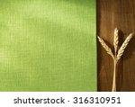 Ears Of Wheat On Wooden...