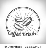 coffee beans  | Shutterstock .eps vector #316313477
