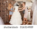 a bride to be shopping for a... | Shutterstock . vector #316314989