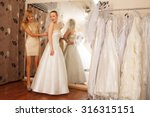 two girlfriends   a bride to be ... | Shutterstock . vector #316315151