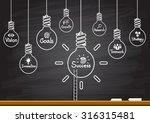 success idea in bulb shape as... | Shutterstock .eps vector #316315481