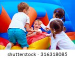 excited kids having fun on... | Shutterstock . vector #316318085