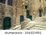 old stone city jaffa in tel aviv   Shutterstock . vector #316321901