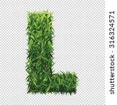alphabet l of green grass. a... | Shutterstock .eps vector #316324571