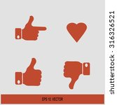 social network vector icon for... | Shutterstock .eps vector #316326521