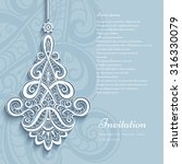 elegant lace pendant on... | Shutterstock .eps vector #316330079
