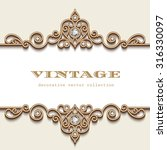 vintage gold jewelry frame on...   Shutterstock .eps vector #316330097