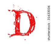 red blood liquid alphabet  ...   Shutterstock . vector #31633036