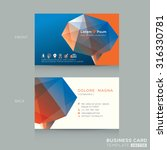 abstract low poly business card ... | Shutterstock .eps vector #316330781