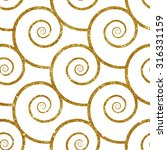 seamless pattern with gold... | Shutterstock .eps vector #316331159