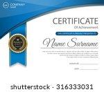 vector certificate template. | Shutterstock .eps vector #316333031
