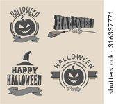 vintage typography halloween ... | Shutterstock .eps vector #316337771