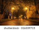 Alley Autumn City Landscape...