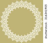 Classic Vector Round Frame Wit...