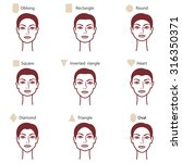 set of different woman's face... | Shutterstock .eps vector #316350371