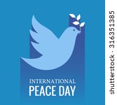 international day of peace.... | Shutterstock .eps vector #316351385
