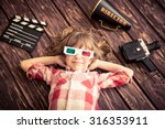 child playing at home. kid with ... | Shutterstock . vector #316353911