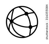 network   black vector icon | Shutterstock .eps vector #316355084