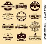 happy halloween design... | Shutterstock .eps vector #316355909