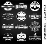 happy halloween design... | Shutterstock .eps vector #316355915