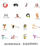 set of colorful abstract letter ... | Shutterstock .eps vector #316359491