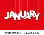 january word hanging on the