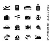 travel icons. vacation icon....