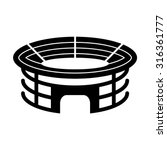 stadium   black vector icon | Shutterstock .eps vector #316361777