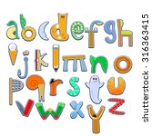 vector image of letters of the... | Shutterstock .eps vector #316363415