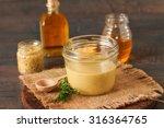 homemade honey mustard dressing | Shutterstock . vector #316364765