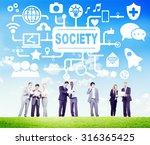 society social media social... | Shutterstock . vector #316365425
