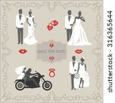 set of vintage vector elements  ... | Shutterstock .eps vector #316365644
