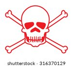 skull vector icon | Shutterstock .eps vector #316370129