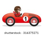 Vector Illustration. Red Car.