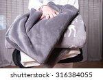 female helper welcomes refugees ... | Shutterstock . vector #316384055