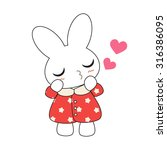 cute cartoon bunny girl in a... | Shutterstock .eps vector #316386095