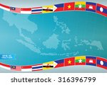 aec or asean or south east... | Shutterstock .eps vector #316396799