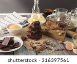 ingredients for the chocolate... | Shutterstock . vector #316397561