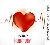vector illustration world heart ... | Shutterstock .eps vector #316401401
