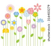flower vector background | Shutterstock .eps vector #316403279