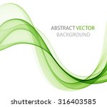 abstract green wave | Shutterstock .eps vector #316403585