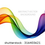 abstract colorful waves. the... | Shutterstock .eps vector #316403621