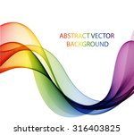 abstract multicolored wave. the ... | Shutterstock .eps vector #316403825