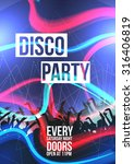 disco party background   vector ... | Shutterstock .eps vector #316406819