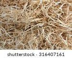 wood shavings texture. natural... | Shutterstock . vector #316407161