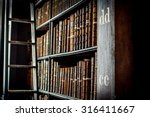 Ancient Bookshelves With...